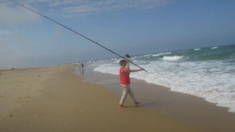 Lancer en surf-casting
