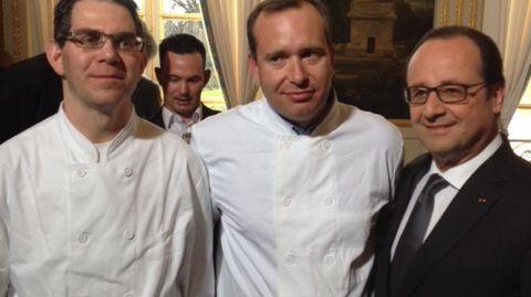 Jean-Luc avec son éducateur Yan et le Président de la République