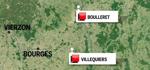 Carte région Cher