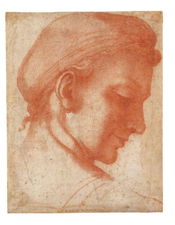 Baccio (Bartolomeo) Bandinelli, « Etude de tête vue de dos, de profil vers la droite » (vers 1518) - Sanguine, collection Jean Bonna © photo Patrick Goetelen, Genève Hermitage