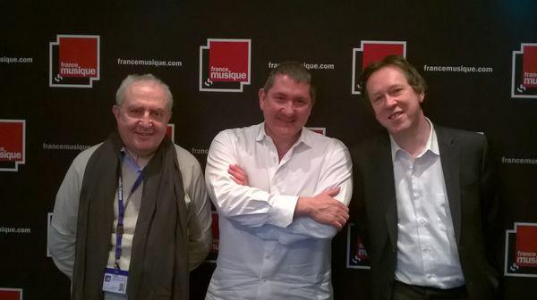 Serge Elhaïk, Yves Calvi et Benoît Duteurtre