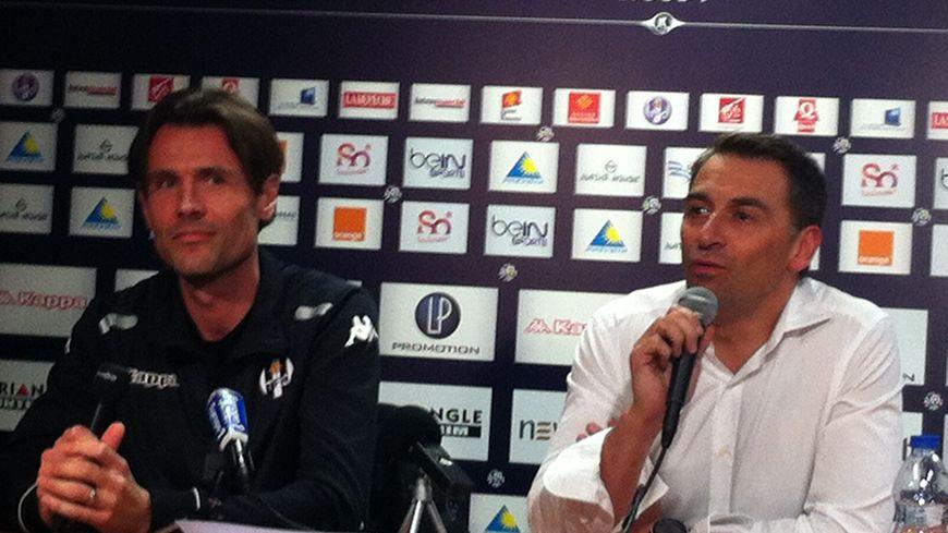 FBToulouse Dominique Arribagé  nouvel entraineur du TFC et Olivier Sadran le président du club