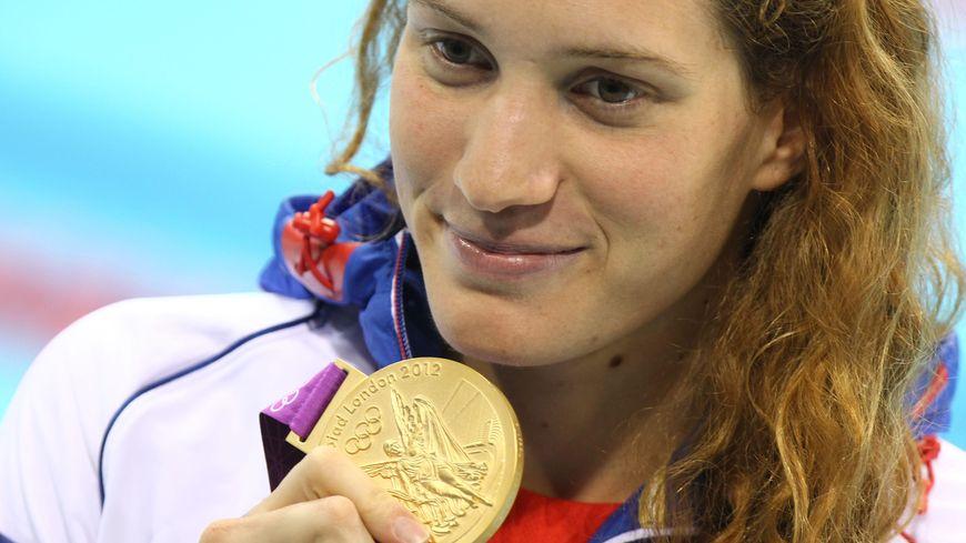 Camille Muffat lors des Jeux olympiques de Londres, en 2012.