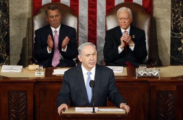 Benjamin Netanyahou à la tribune du congrès américain