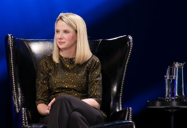 Marissa Mayer, Pdg de Yahoo. San Francisoco, Dreamforce 2013.