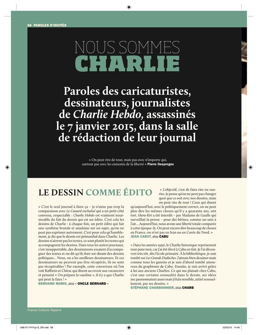 Hommage à Charlie Hebdo Pages 68 à 71