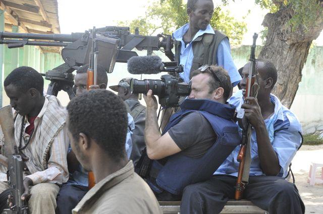 Thomas Dandois à Mogadiscio.Somalie.