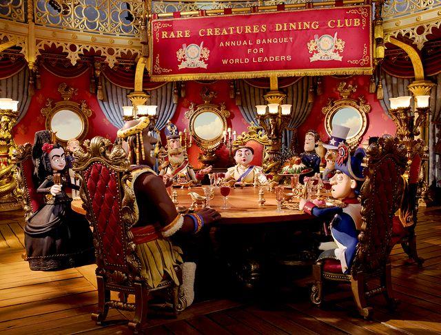 """""""Rare creatures dining club"""" - image extraite du film """"Les Pirates ! Bons à rien, mauvais en tout"""" des studios Aardman"""
