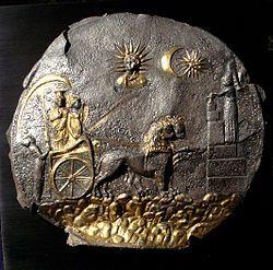 Cybèle  et le Dieu Soleil. Ai-Khanoum, 2e siècle avant notre ère