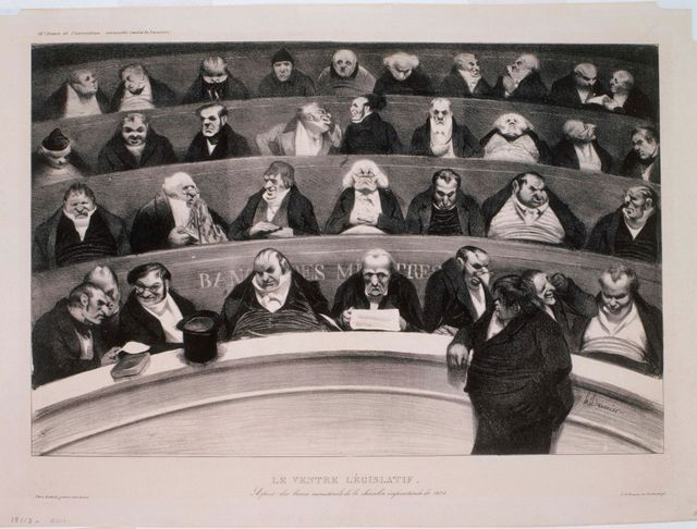 Le Ventre Legislatif par Honoré Daumier - 1834