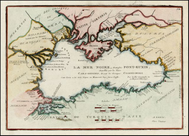 Carte de la Mer Noire par Nicolas de Fer - 1705