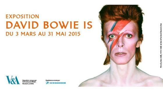 Photo - montage affiche expo David Bowie MEA 603*380
