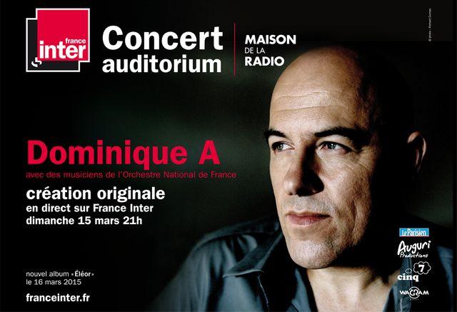 Dominique A affiche concert NE PAS UTILISER