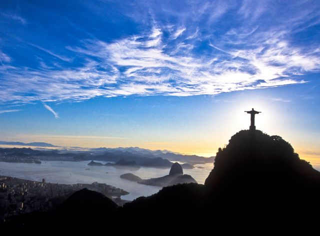 Brésil,  Rio de Janeiro, la baie de Guanabara