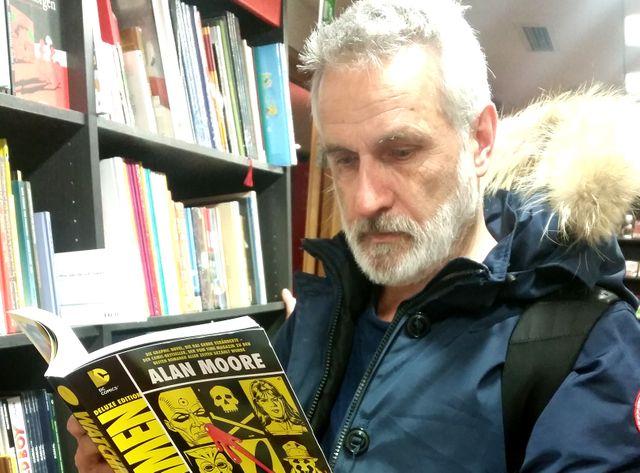 Jean-Marc Rochette dans une librairie berlinoise