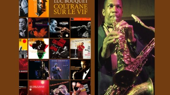 Photo - montage couv Coltrane sur le Vif de Luc Bouquet MEA 603*380