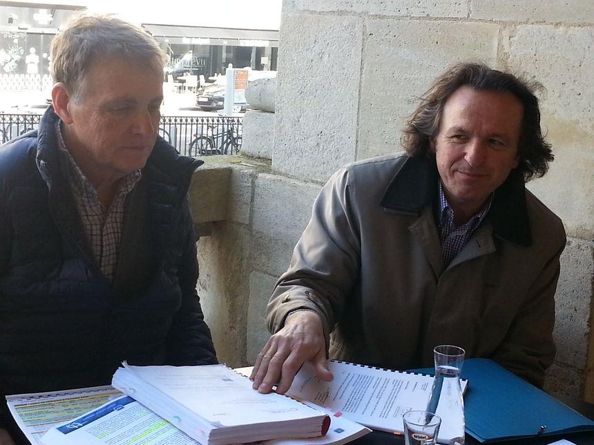 Denis Teisseire et Jacques Dubos, de Trans'Cub