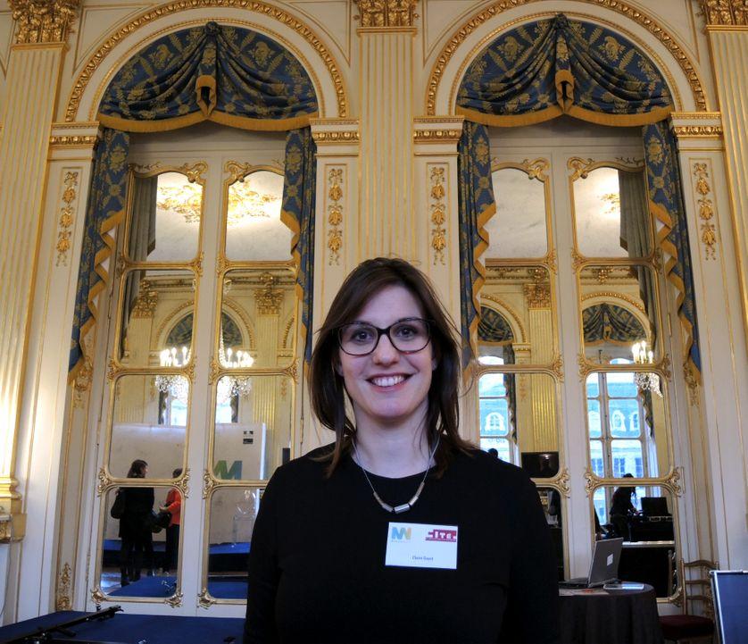 Claire Gayet, animatrice de communautés en ligne à la Cité de l'architecture, le 5 mars 2015 au ministère de la Culture