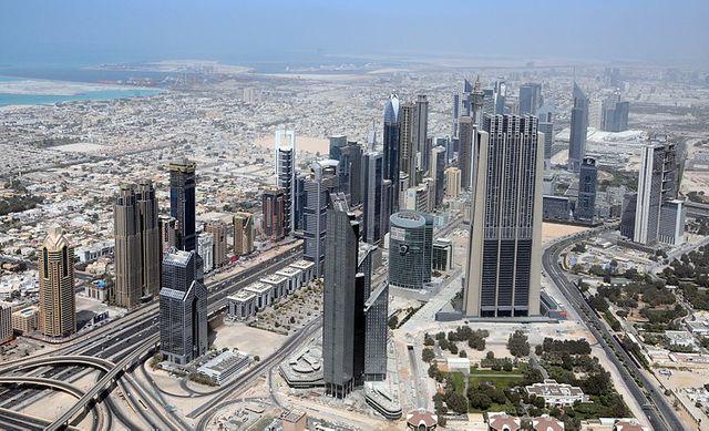 Le centre financier de Dubai depuis la tour Burj Khalifa