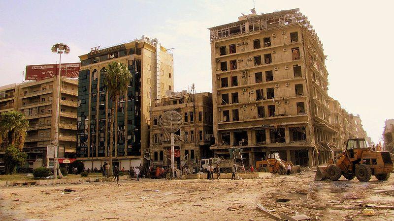 Alep, Saadallah al-Jabiri frappé par 3 explosions de voitures, 3 oct. 2012