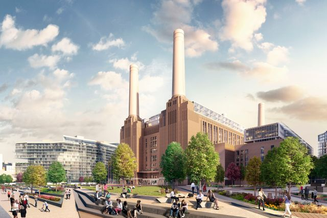Chantier de Nine ELMS, Battersea station