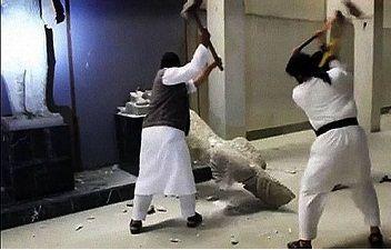 Destructions au musée de Mossoul
