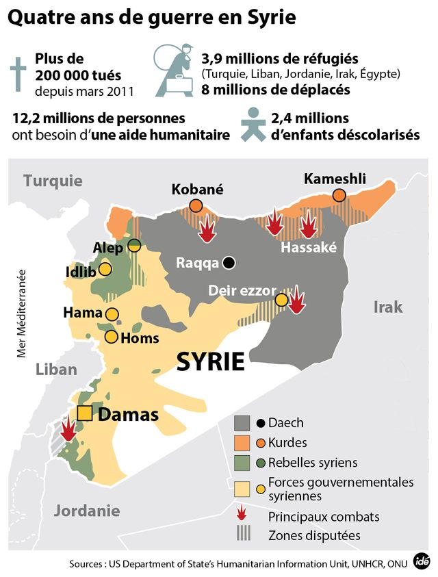 Syrie : quatre ans de guerre