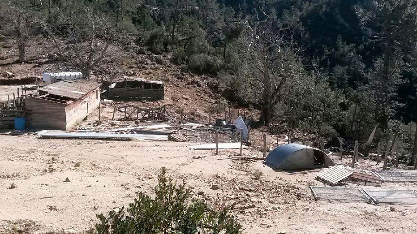 Rien n'a résisté à la violence du vent dans la région de Guagno