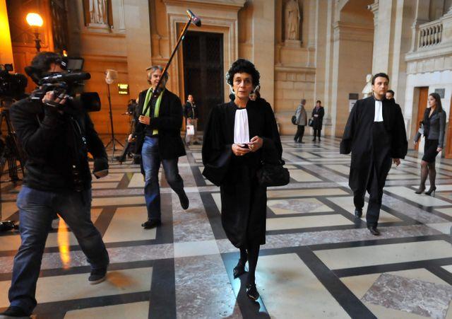 ISABELLE COUTANT PEYRE FEMME ET AVOCAT DE CARLOS AU PROCES DE CARLOS AU TRIBUNAL DE PARIS LE 7 NOVEMBRE 2011.