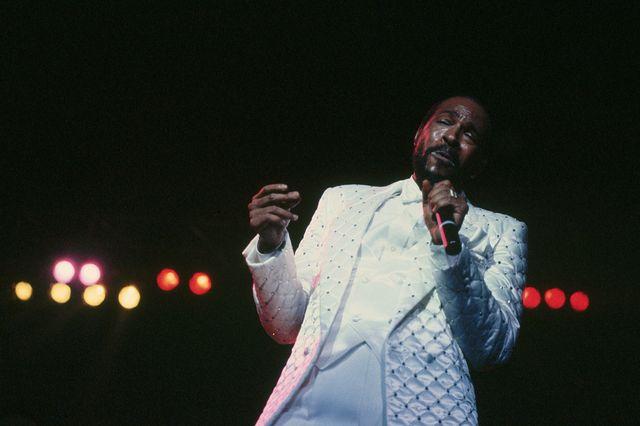 Marvin Gaye en concert en 1983.