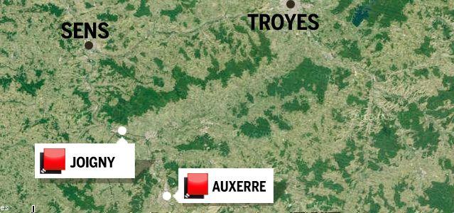 Carte Yonne - Jeu des 1000 euros