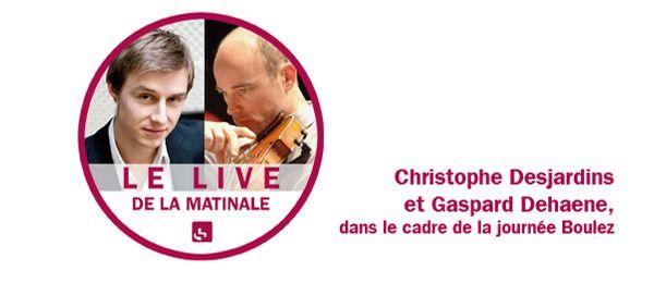 Visuel Gaspar Dehaene et Christophe Desjardins