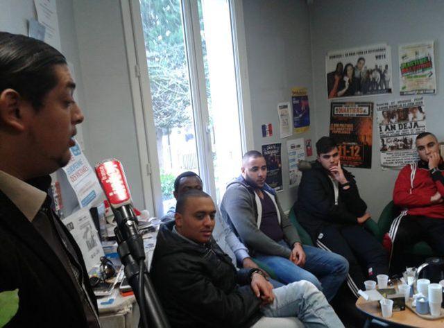 """Clichy-sous-Bois, dans les locaux de l'association """"AC Le Feu"""""""