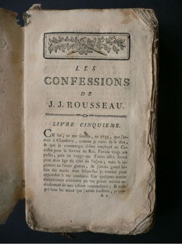 Les confessions de Jean-Jacques Rousseau