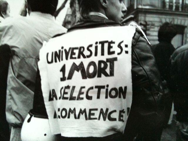 Manifestation contre la loi Devaquet 1986