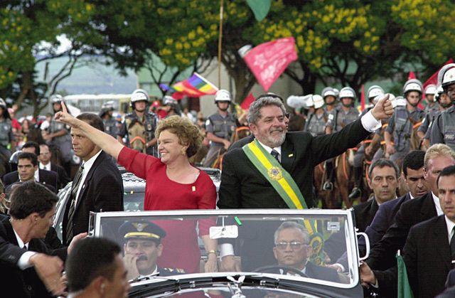 Luiz Inácio Lula da Silva le jour de son investiture à la présidence du Brésil en 2003