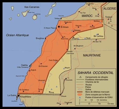 Carte Sahara Occidental