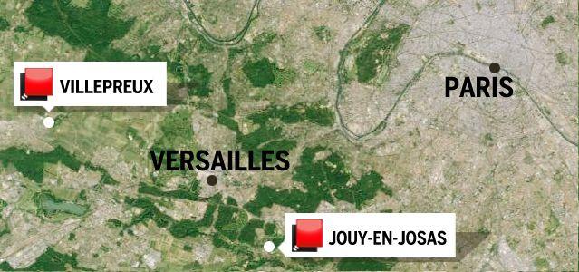 Carte Yvelines - Jeu des 1000 euros