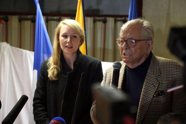 Jean-Marie Le Pen et Marion Maréchal Le Pen