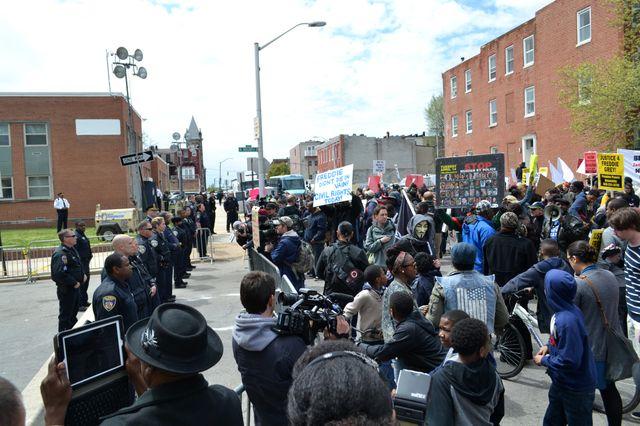Manifestation pour  Freddie Gray
