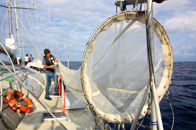 Yann Chavance-Tara Exp 4.Le séchage d'un filet destiné à récolter le plancton, raison d'être de l'expédition Tara Oceans.jpg