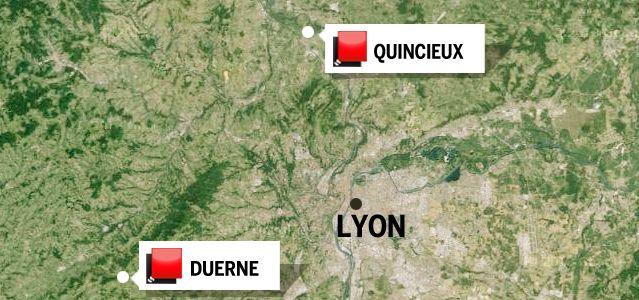 Carte Rhône - Jeu des 1000 euros