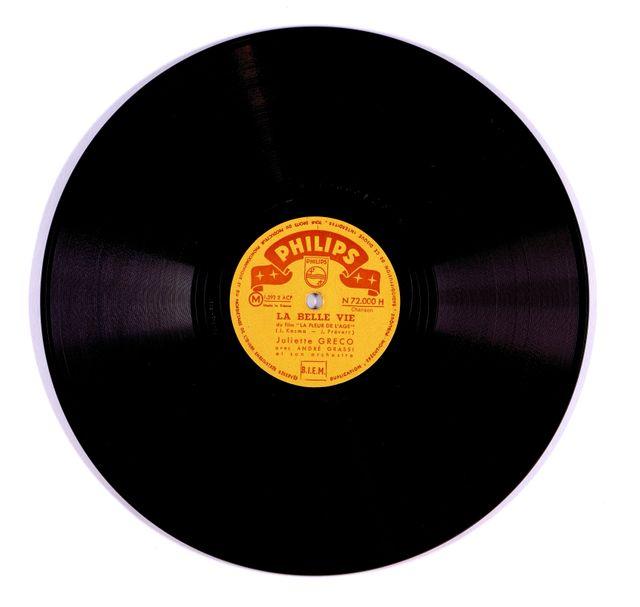 Le premier disque de Juliette Gréco