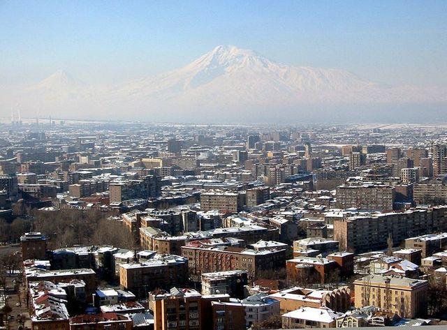 Erevan et le Mont Ararat