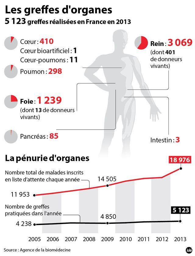 Les chiffres du don d'organes