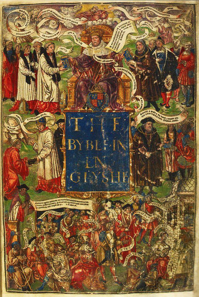 """Grand Bible an anglais"" ayant probablement appartenu au roi Henri VIII - 1539"