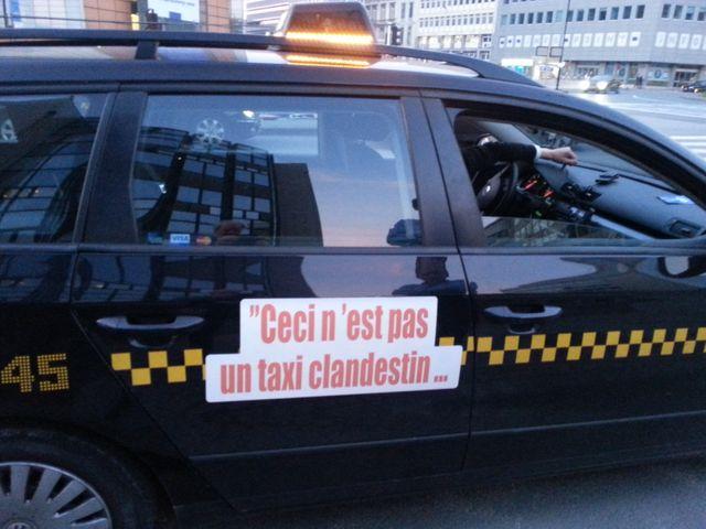 Manif contre les taxis clandestins