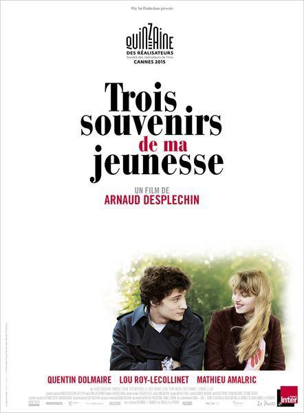 """Affiche """"Trois souvenirs de ma jeunesse"""" d'Arnaud Desplechin"""