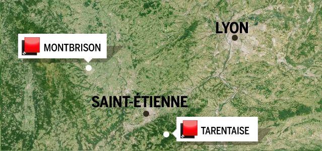 Carte Jeu des 1000 euros - Loire