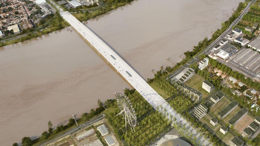 Vue aérienne du futur pont Jean-Jacques Bosc